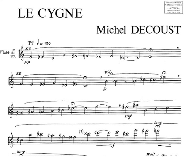 partition Le Cygne - Decoust